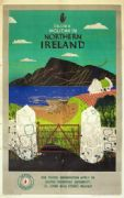 Ulster Art travel Poster, Northern Ireland, Irish Gates